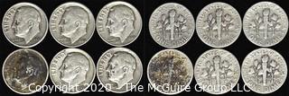(6) 1949 U.S. Silver Dimes