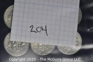 (6) U.S. Silver Dimes: 4-1950; 2-1949