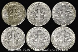 (6) U.S. Silver Dimes: 3-1950; 3-1959