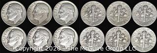 (6) 1951 U.S. Silver Dimes