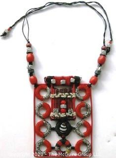Artisan Made Thread Statement Necklace by Helen Banes