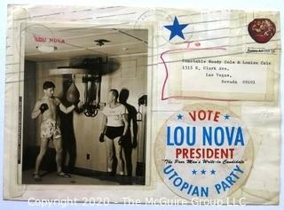 "Heavyweight boxer and Actor Lou Nova, known as the ""Comic Punch"", campaign for President:  ""The Poor Mans Candidate"". Utopian Party"