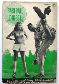 Vintage March 1947 Baseball Digest