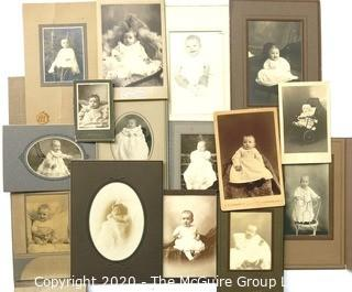 Collection of Vintage Baby Photos and Cabinet Photographs