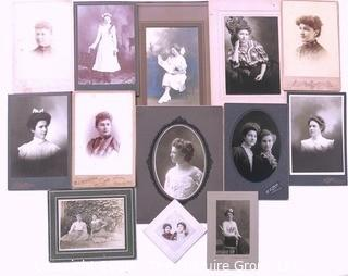Collection of Vintage Photos and Cabinet Photographs of The Ladies