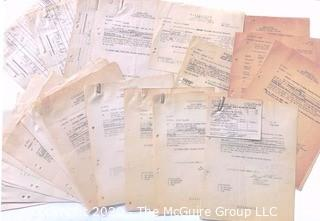 Post War WWII Paperwork from the Western Base Sector, European Theater.  Includes Munitions Reports, Officer Reports, and other Restricted Materials.