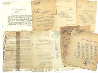 WWII Paperwork from the European Theater.  Some Written in French.