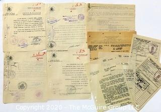 Post War WWII Paperwork from the European Theater.