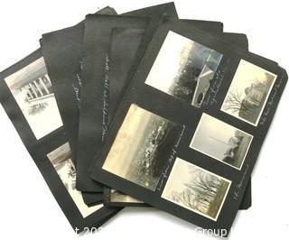 Early 1900's Black & White Antique Family Photo Album of Washington DC