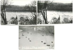 "Three Large Format Black & White Photographs by A Rickerby.  Part of Springtime Photo Series.  Measure Approximately 13"" x 9"""
