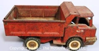 Vintage Red Steel Toy Dump Truck