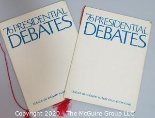 Two Programs from the 1976 Presidential & Vice Presidential Debates (Ford v Carter & Mondale v Dole) Sponsored by The League of Women Voters  -  Political, U.S. Presidential Memorabilia Auction Description updated at 3:12 pm on 10/29/2020.