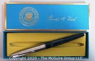 Gerald Ford White House Felt Tip Souvenir Signing Pen with Box - Political, U.S. Presidential Memorabilia