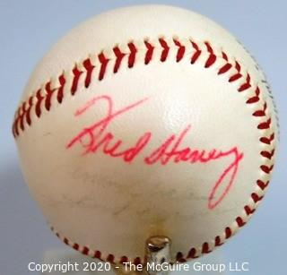 Spalding Official National League Ball: Signed: Fred Haney. Sports Baseball Memorabilia. (from collection of Clifford Evans (period piece, excellent condition).
