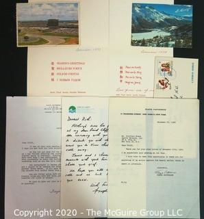 20 year correspondence between Floyd & Janet Patterson with Clifford Evans. Floyd was the two-time heavyweight boxing world champion, signed - Sports Memorabilia