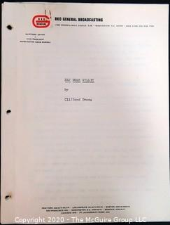 "Manuscript for ""Fat Nose Willie"" by Clifford Evans; written for RKO Broadcasting"