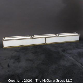 "Cased Art Deco Slag Glass Wall Mounted Light. Originally used as Display Fixture in Gimbels Department Store. 48"" Wide"