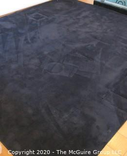 Large Machine Made Rug in Dark Grey Black.  Measures approximately 142.5 X 163 inches