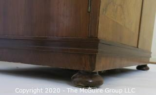 """Tall men's dressing cabinet; Art Deco Period Piece with highly figured book-matched veneer front; 33""""W  51""""T x 19""""D.  Vintage. Furniture."""