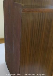 Art Deco Double Dresser Made of Highly Figured Book-Matched Veneers. (matching pieces to the set are found in Lots 82 and 84)