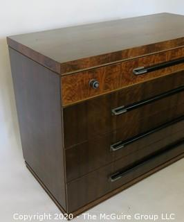 "Art Deco Dresser Made of Highly Figured Book-Matched Veneers (matching pieces to the set are found in Lots 82 and 83). 48"" wide 22"" deep,  35""tall"