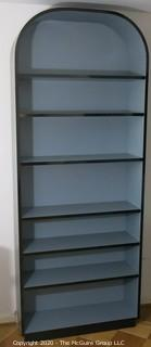 """Reproduction Art Deco Style Shelving Unit Made of Grey Laminate with Wood Substrate. 36W x 15D x 93""""T"""