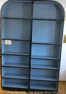 """Reproduction Art Deco Style Shelving Unit Made of Grey Laminate with Wood Substrate. 60W x 12D x 93""""T"""