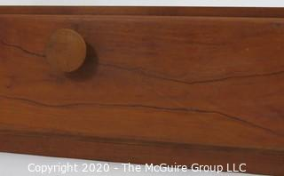 "Cherrywood Wall Mount Gun Rack with Hinged Drawer Below; 26W x 6.5D x 29.5""T"