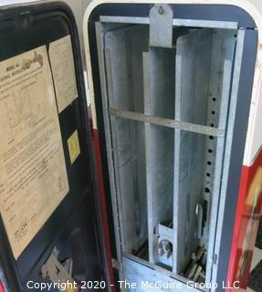 """Model V-44 Coca-Cola Coke Vendo Vending Machine; working condition; 17W x 22D x 57.5""""Tall"""