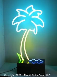 "Neon Palm Tree; 25"" x 10"" x 5"". Art"