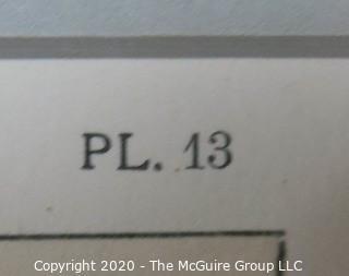 """Framed Art Deco Pochoir Lithograph """"Devantures de Boutiques"""" Rodolph: Outside Dimensions 12.25 x 15.5""""; Image Size 7.5 x 10.25"""""""