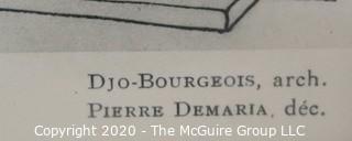 """Framed Art Deco Pochoir Color Lithograph from 'Devantures de Boutiques' by Louis-Pierre Sezille, Paris, 1927. Outside Dimensions 13.5 x 16""""; Image Size 8.5 x 11"""""""