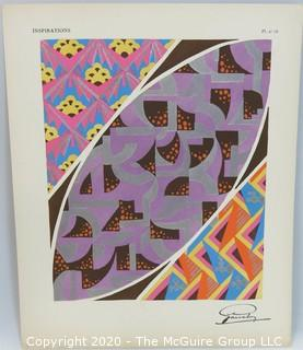 "Unframed Abstract Signed Lithograph titled ""Inspirations Plate #19"": Outside Dimensions 12.5 x 15.5""; Image Size 9.5 x 12"";"