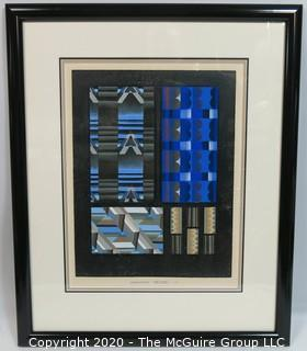 "Vintage Framed Art Deco Pochoir Print RELIAS #11 by Edouard Benedictus. Outside Dimensions 19.5 x 23.5""; Image Size 11.75 x 15.75"""