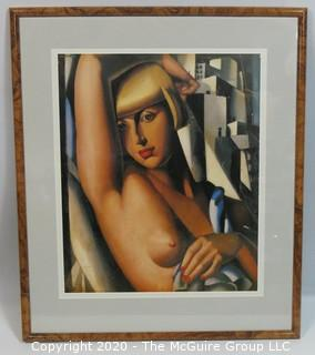 "Art Deco Framed Print by Tamara Lempika.  Outside Dimensions 22 x 26""; Image Size 16 x 19"""