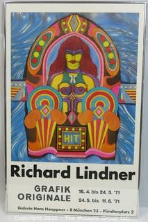 "Unframed Richard Lindner Pop Art Poster HIT for the Grafik Original 1971; 21 x 33"" (Description altered 11.18.20 @ 10:22 am ET)"