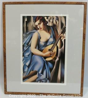 "Art Deco Framed Print by Tamara Lempika.  Outside Dimensions 22 x 26""; Image Size 16 x 19"""
