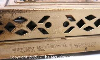 "Vintage Minneapolis Honeywell Thermostat Regulator Clock, 8 Day 7 Jewels, Model 77 Art Deco; 10""T"