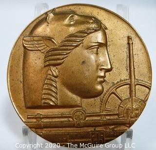 "1950 Art Deco Medallic Art Company 50th Anniversary Bronze Medal - BRUNO MANKOWSKI; 2 23/32""; 170 grams"