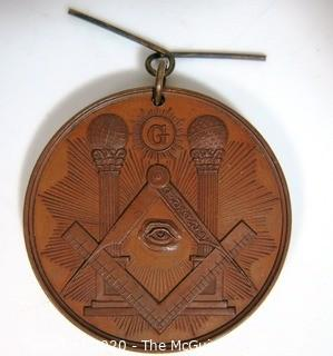 "1887 Masonic Medal Commemorative of the Centennial of the Grand Lodge of Maryland, AF & AM; 1 24/32""; 48g"