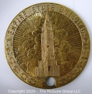 "1939 Souvenir of Worlds Fair New York - Empire State Building Medal; 1 7/32""; 10 grams"