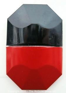 Art Deco Red & Black Bakelite Cigarette Lighter, Made in USA. Tobacciana
