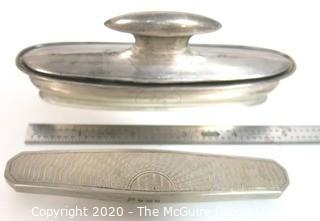 Pair of Antique Sterling Silver Nail Buffers