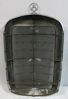"1950's ""Adenaur"" Mercedes Benz W186 Model 300, Metal 'Ponton' type Grill; 36"" Tall x 6"" Deep x 21.5"" Wide - Wall Art"