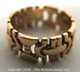 14 kt Rose Gold Open Cut Work Ring.  5.6 g