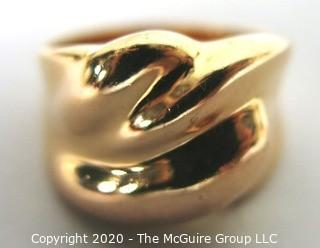 14kt Rose Gold Ring, Made in Italy. 6.7 g