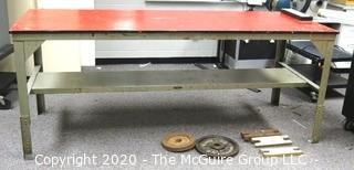 Vintage Steel Industrial Welders Table