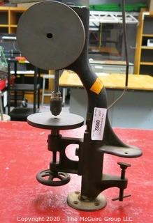Vintage cast iron tabletop hand powered drill press