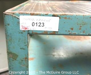 Vintage Two Level Industrial Metal Cart on Casters.