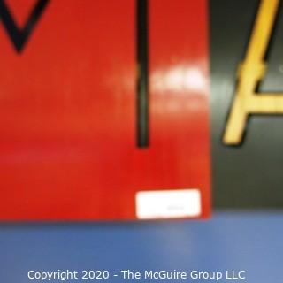 "Three Dimensional Artisan Made ""MAKERSTUDIO"" Sign. 12' long."